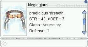 fRO Items - Megingjard